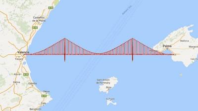 ¿Por qué cojones no hay aún un puente que una Valencia y Mallorca?