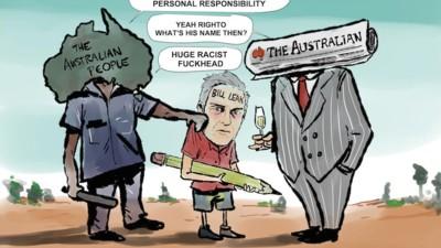 Gezeichnete Reaktion auf den rassistischen Comic einer australischen Zeitung
