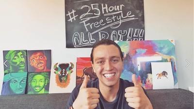 Trotz Mandelentzündung & Heiserkeit – Rapper stellt neuen Weltrekord im Freestylen auf
