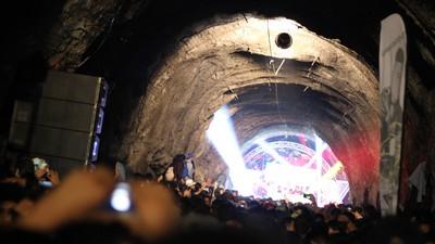 Reventón subterráneo en un túnel de Guanajuato