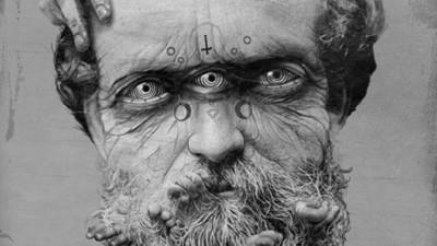 Matthijs Visser maakt hele morbide fotocollages van hele oude foto's