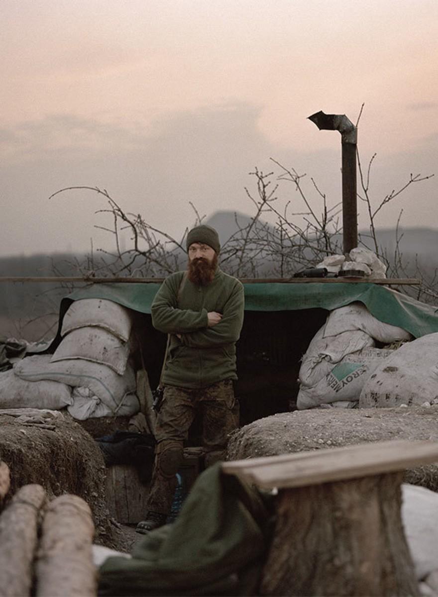 Porträt- und Dokumentarfotos vom Ukraine-Krieg