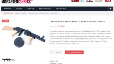 Das Ende von Migrantenschreck? Polizei schnappt Kunden von neurechtem Waffenshop