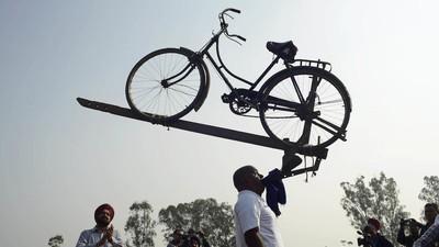 En imágenes: el insólito y maravilloso mundo de los Juegos Olímpicos rurales de la India