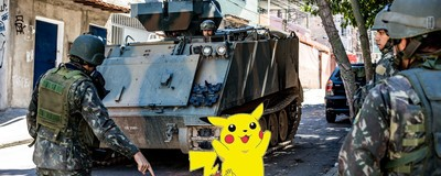 Os militares brasileiros não estão muito contentes com os Pokémons nos quartéis