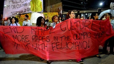 O ato das mulheres contra a cultura do estupro na Rio 2016
