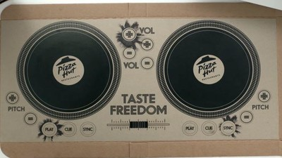 Pizza Hut's Playable Turntable Pizza Box Is the Latest Fast-Food Gimmick