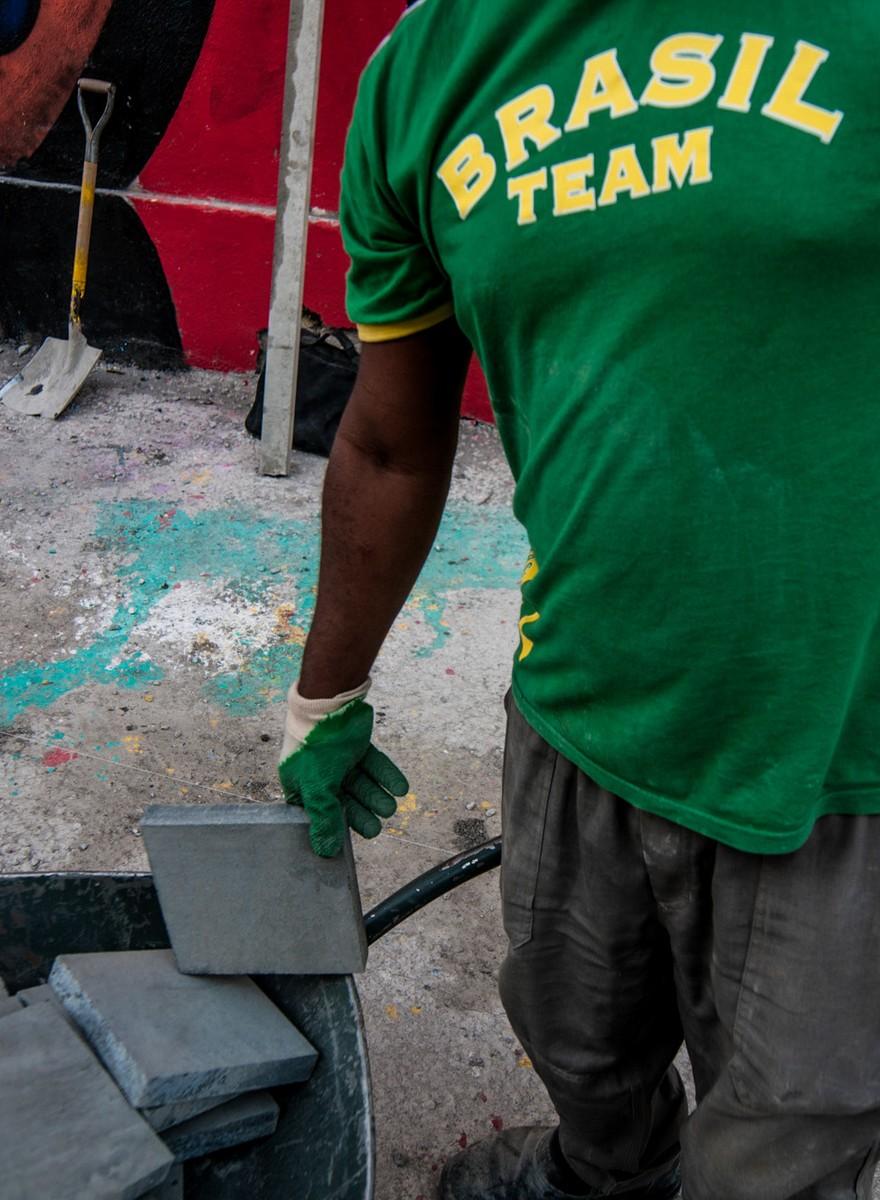 Aqui é time Brasil: fotos de trabalhadores durante os Jogos