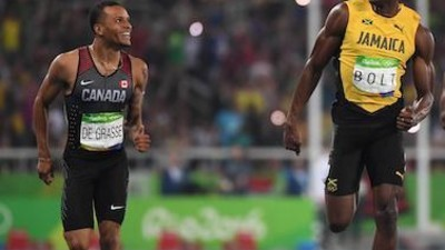 The Usain Bolt-Andre De Grasse Bromance We Wanted to Be Real Is Real