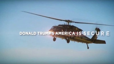 Donald Trump's First TV Ad Reveals His Plan to Keep America Safe: Helicopters