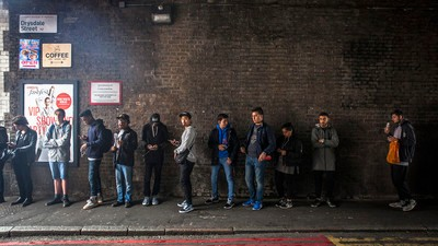 Meet Kanye's Biggest Fans in Line for His London Pop-Up