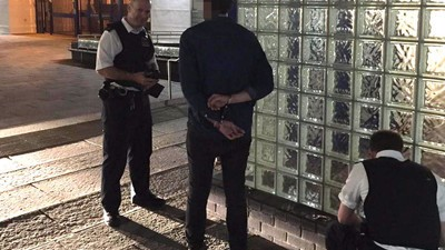 This Guy Did Coke Outside a Police Station and Obviously Got Caught