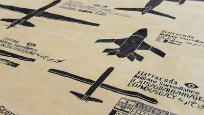 Este tapete hecho a mano es una guía para sobrevivir a drones