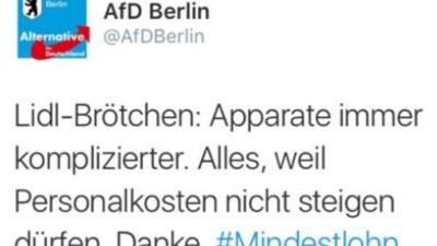 Die AfD ist zu dumm, um Brötchen zu kaufen