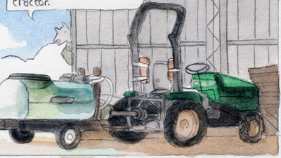 'Orchard Tractors of the Tasmanian Huon Valley,' Today's Comic by Gregory Mackay