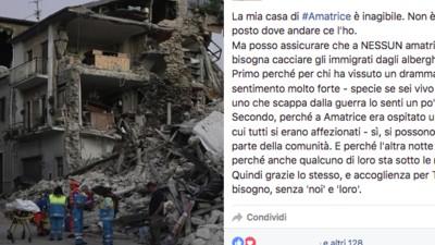 Questo post Facebook mette a tacere tutte le idiozie su migranti, alberghi e terremotati