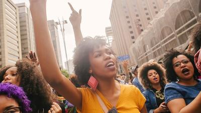 Fotografando a Marcha do Orgulho Crespo