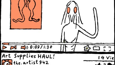 'The Artist's YouTube Haul and Tutorial Videos,' Today's Comic by Anna Haifisch