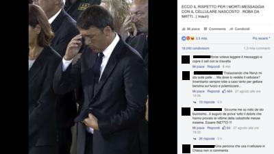 """Perché la gente è impazzita per la foto di """"Renzi col cellulare""""?"""