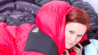 Getting Down with the Puffy Jacket Porn Scene