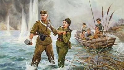 Seltene Gemälde aus Nordkorea im traditionellen Chosonwha-Stil