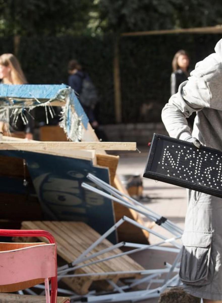 In foto: Cosa resta di Christiania dopo la distruzione