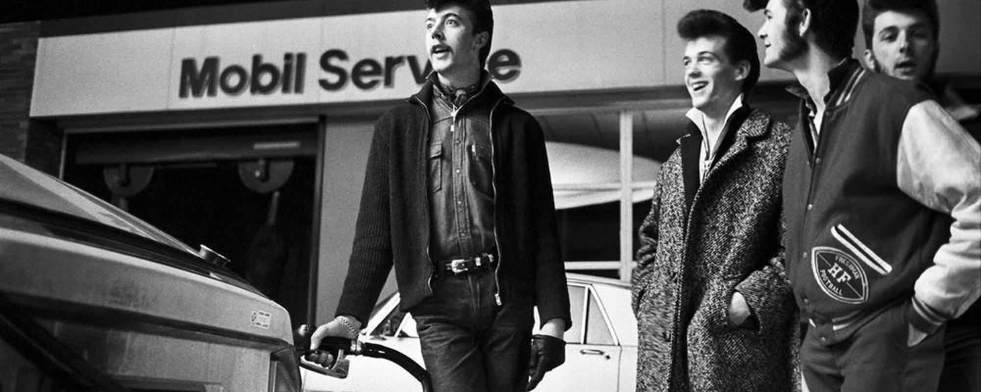 Fotografii cu moda rockabilly din Franța anilor '80