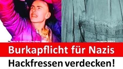 Die Partei fordert eine Burkapflicht für Nazis