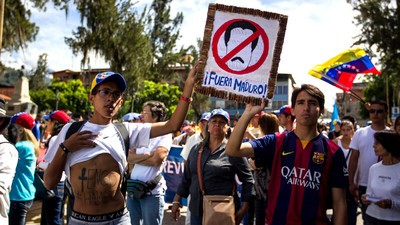 Nationwide Protests in Venezuela Call for an End to Maduro's Presidency