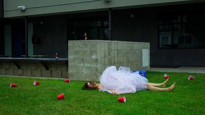 Fotos polémicas que denuncian el acoso sexual en el campus de la universidad