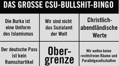 Das große CSU-Bullshit-Bingo