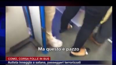 """""""Quando Satana arriverà, questa gente morirà!"""": il video dell'autista 'satanico' a Como"""