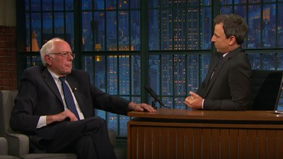 Bernie Sanders Went on 'Seth Meyers' to Remind Everyone to Actually Vote for Hillary