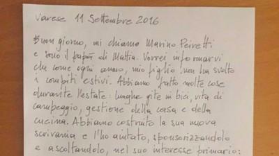 Lettera al padre che ha scritto la lettera sui compiti del figlio