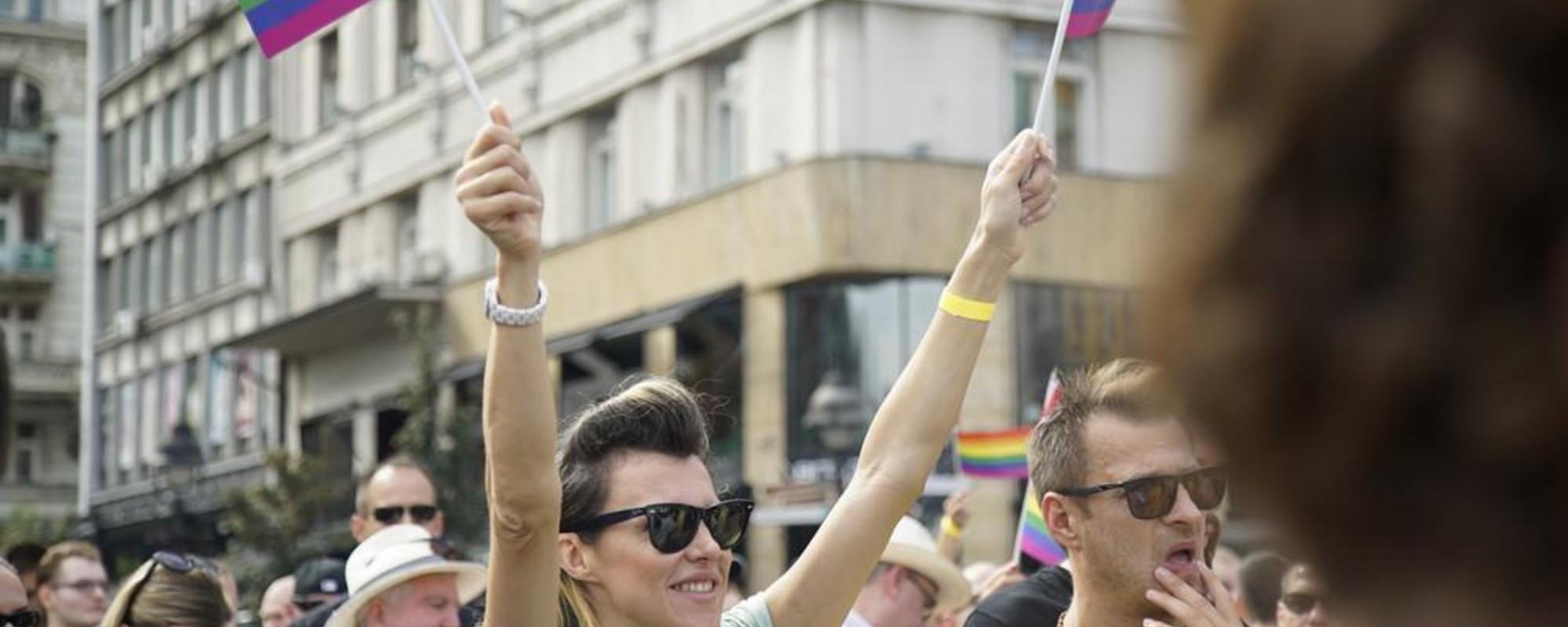 Fotografii de la aniversarea de trei ani a paradei gay din Belgrad