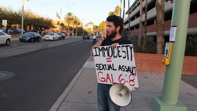 Arizona's Slut-Shaming Preacher Was Arrested for Kicking a Girl in the Chest
