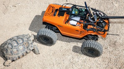 Backed by Lasers, Robotic Rovers Defend the Desert Tortoise