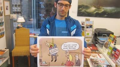 In dieser Ausstellungen hängen so schlimme Comics, dass sich sogar der Kurator schämt