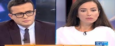 Toate fețele Oliviei Steer în timp ce spunea aberații în emisiunea lui Gâdea