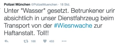Das Oktoberfest erklärt in 10 Tweets der Polizei München