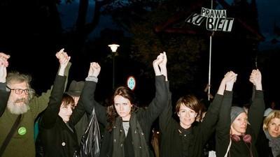 Fotografii de la protestul împotriva interzicerii avortului în Polonia