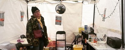 This Back Alley 'Harm Reduction' Tent in Vancouver Isn't Asking Permission to Operate