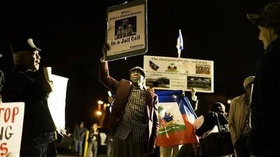 Las protestas afuera del debate presidencial