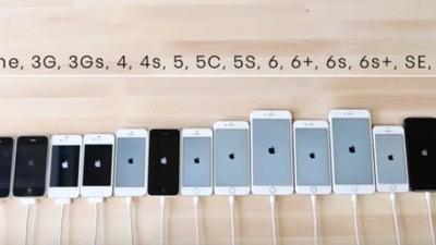 Check hier een snelheidstest tussen alle iPhones die ooit zijn gemaakt