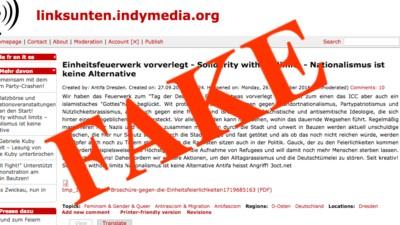 Jemand versucht, die Bombenanschläge von Dresden der Antifa anzukreiden