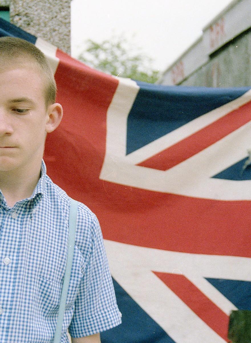 Foto's van jonge Britse skinheads in de jaren tachtig