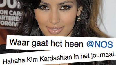 Stop eens met klagen over dat Kim Kardashian in het NOS Journaal verscheen