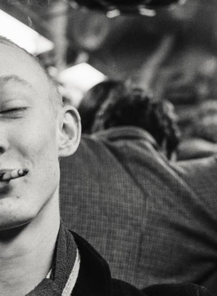 Fotos da vida de um jovem skinhead