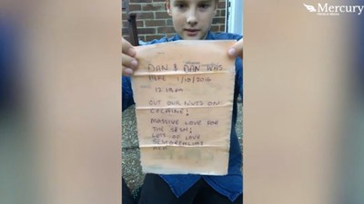 The Boy Who Found a Note from Two Cokeheads Washed Up as a Message-in-a-Bottle