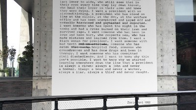 This Radical Feminist Poem Is Now a Giant-Ass Art Installation